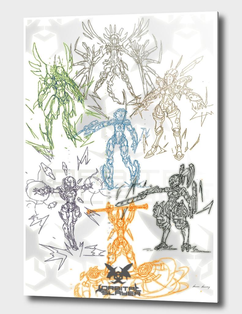 Orbital Slayer 2- Concept Art Bosses 2
