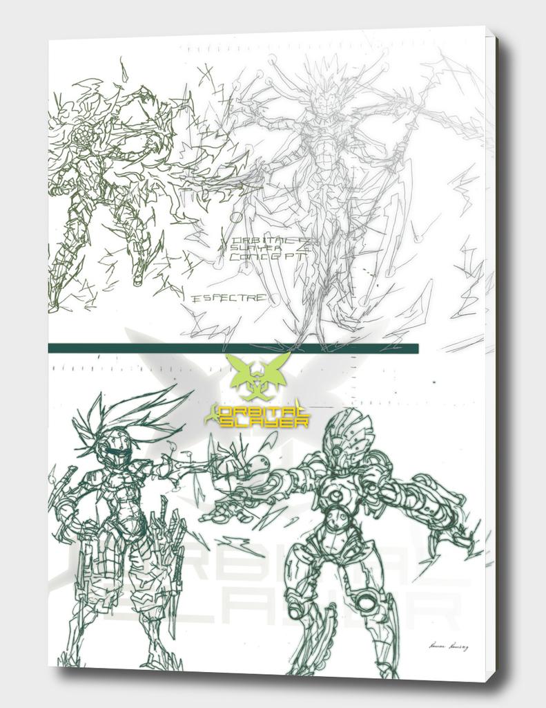 Orbital Slayer 2- Concept Art Bosses 1