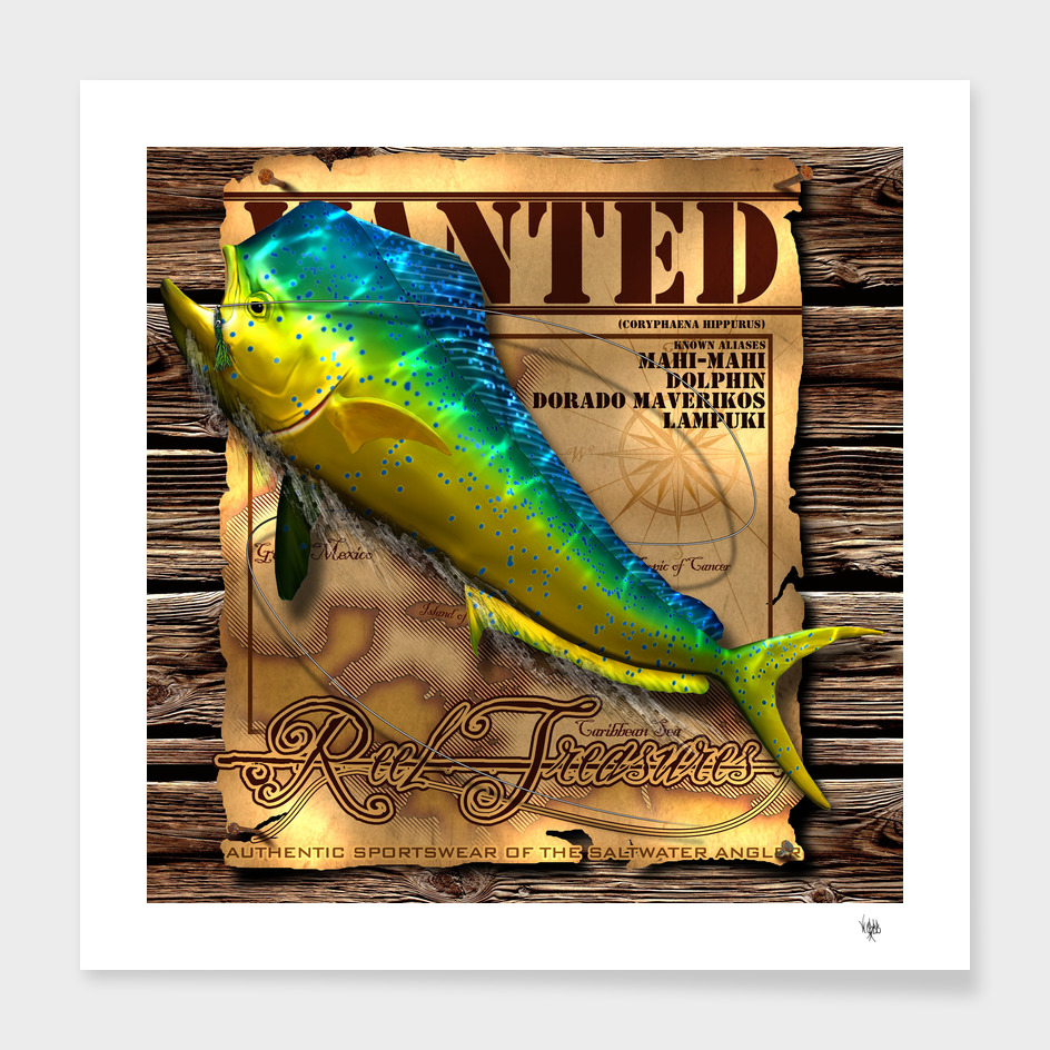 REEL TREASURES WANTED-Mahi Mahi
