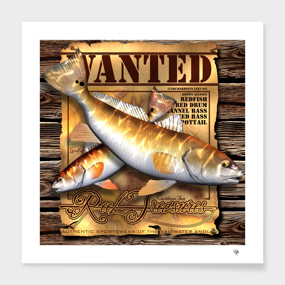 REEL TREASURES WANTED-Redfish