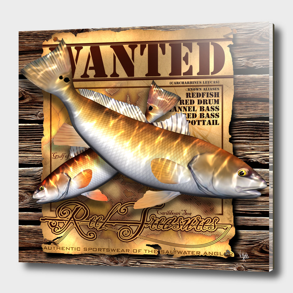 REEL TREASURES WANTED-Redfish