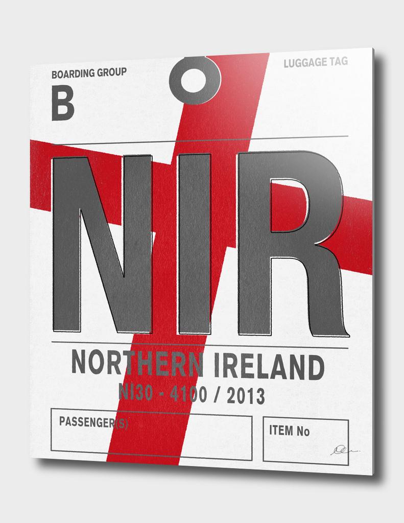 Northern Ireland Vintage Luggage Tag Print
