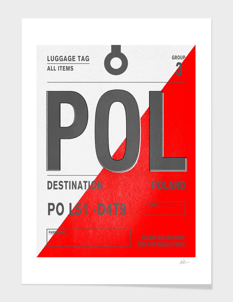 Poland Vintage Luggage Tag Print
