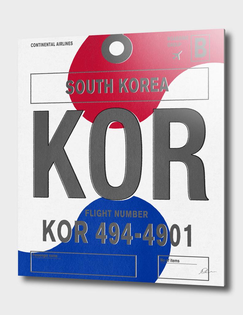 South Korea Vintage Luggage Tag Print