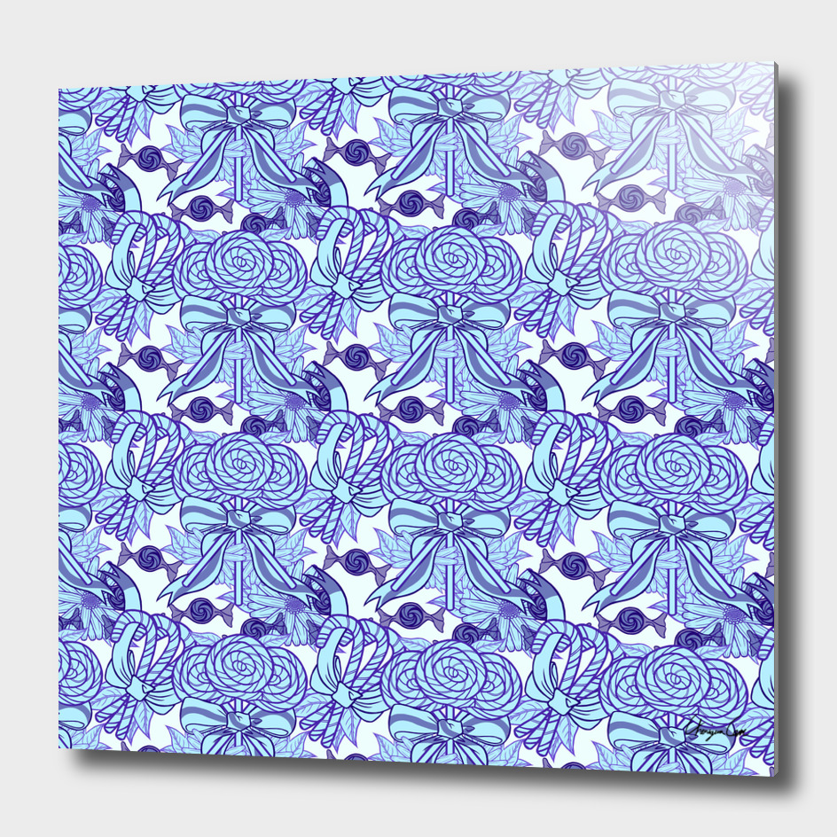 Blue Blazes (Candy Pattern)