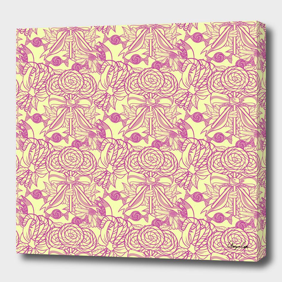 Yellow Bubblegum (Candy pattern)