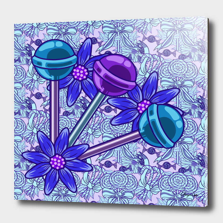 Blueberry Fun PLUS (Candy Pattern)