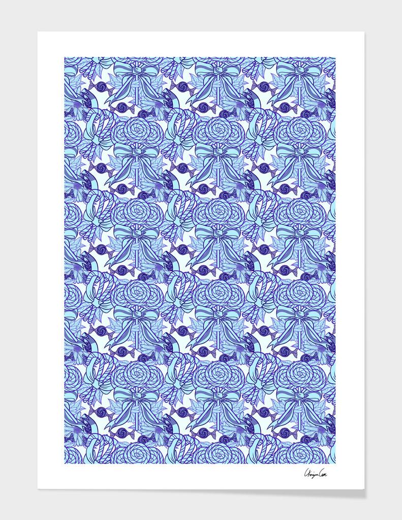 Long Blue Blazes (Candy Pattern)