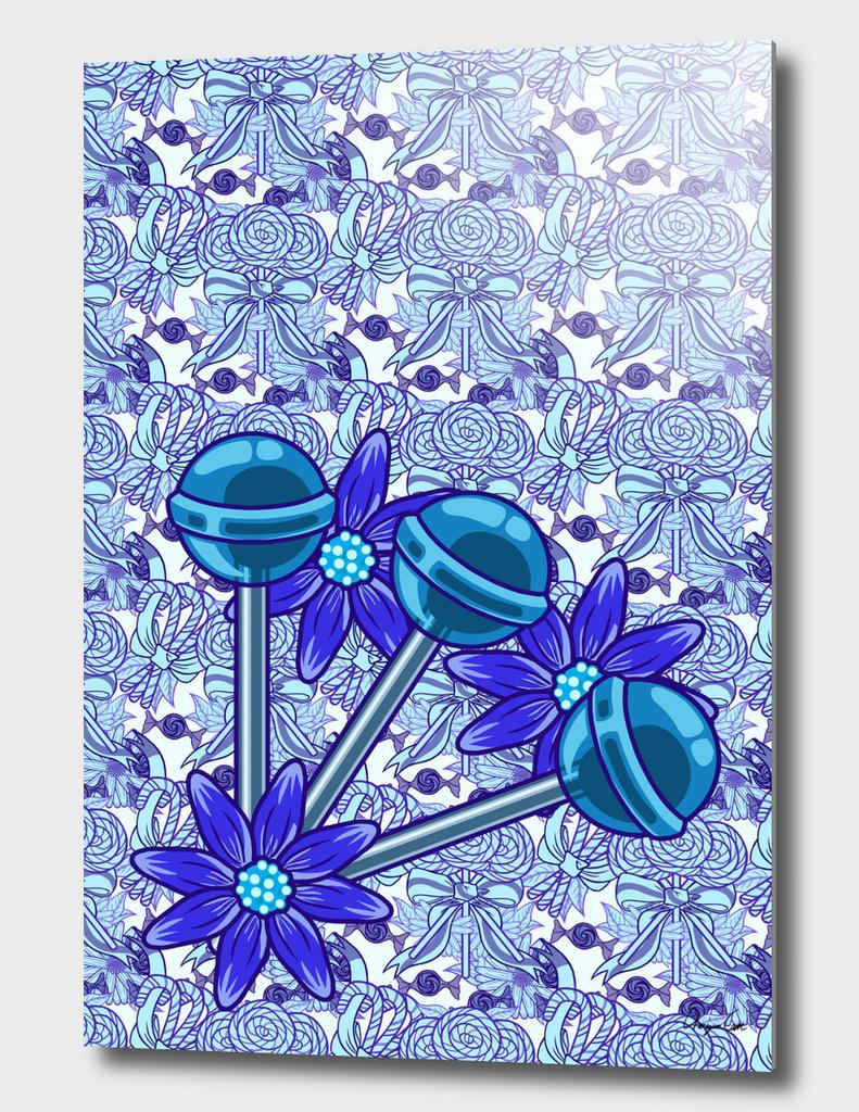 Long Blue Blazes PLUS (Candy Pattern)