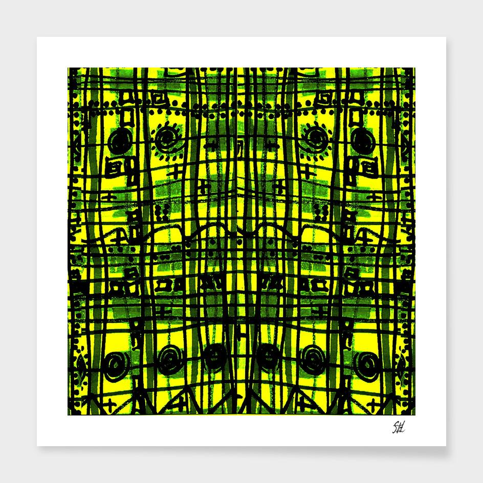 Bizarre Spacy Plaid~Yellow Night