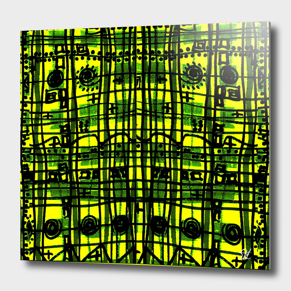 Bizarre Spacy Plaid~Yellow Night