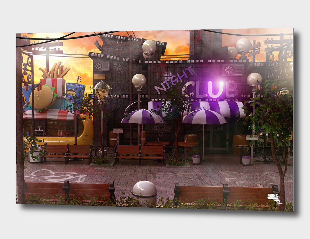 Cartoon Urban Street