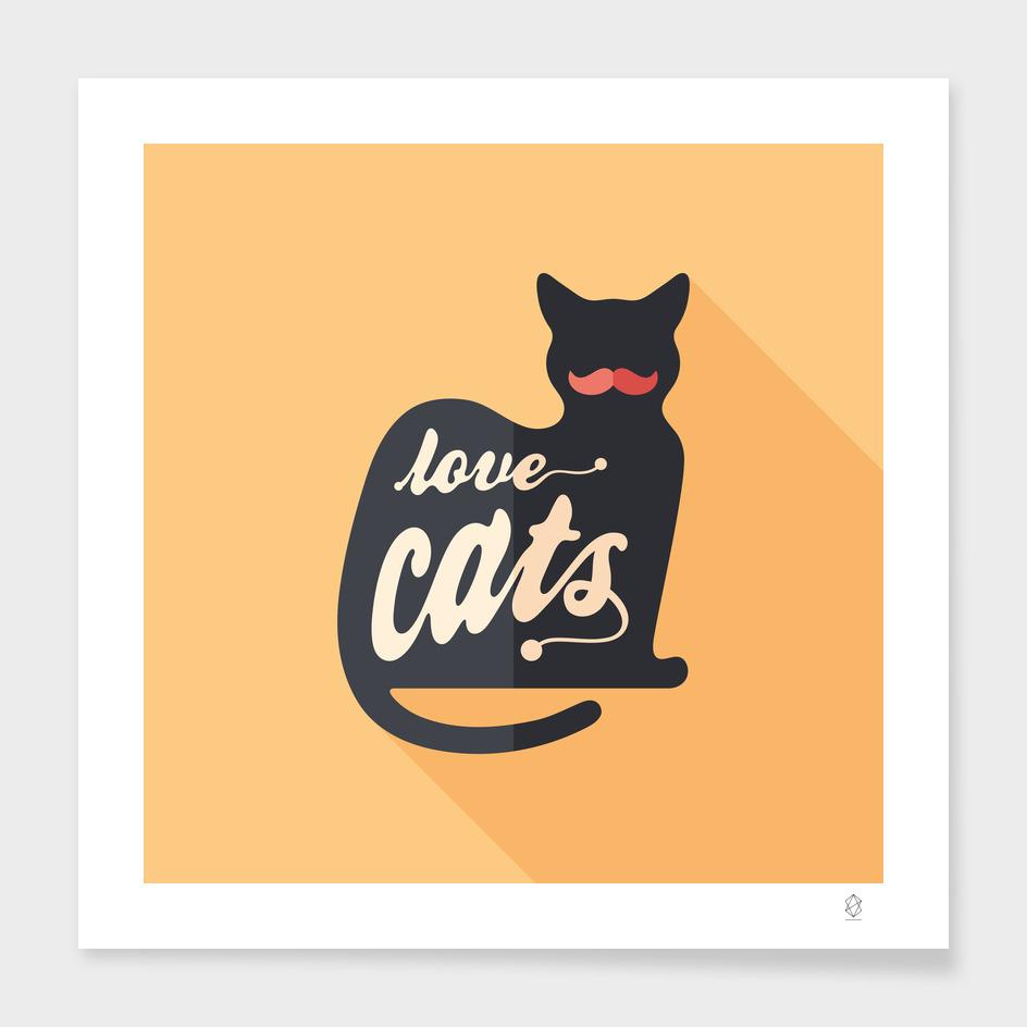 Love Cats Flat Art