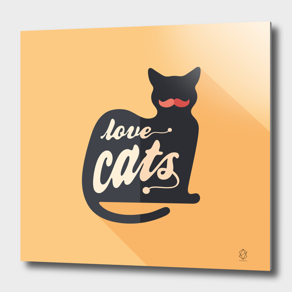 Love Cats Flat Art