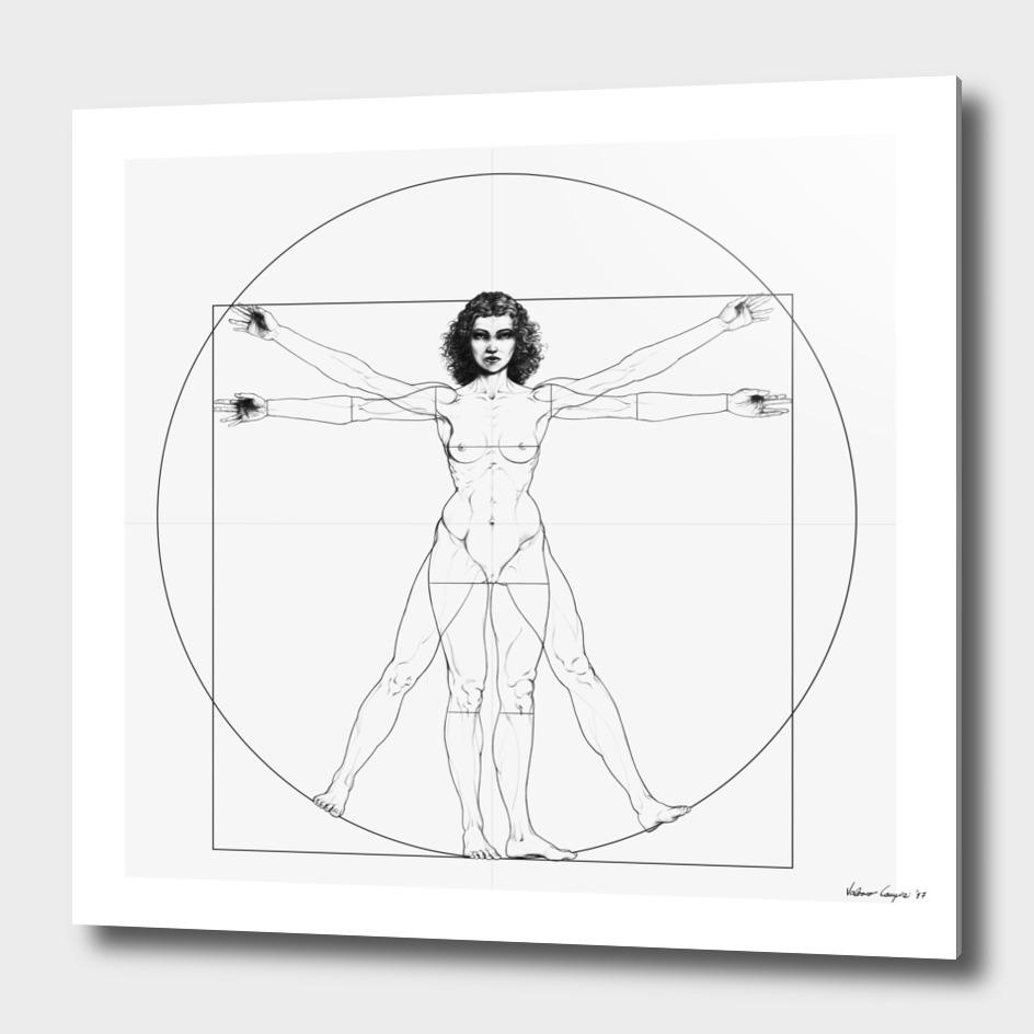 Vitruvian Woman / BW version