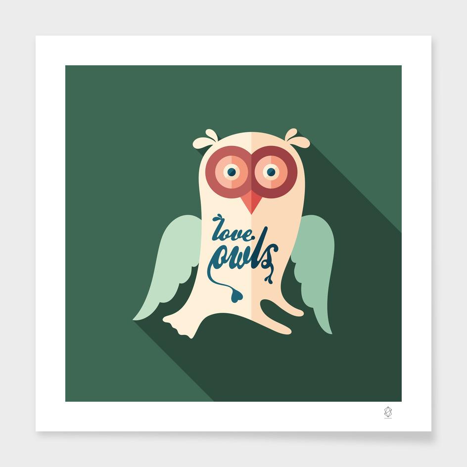 Love Owls Flat Art