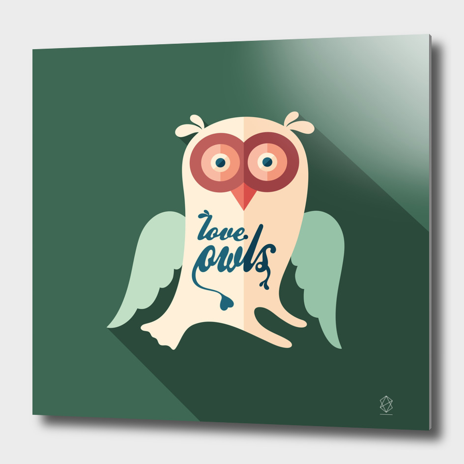 Love Owls Flat Art