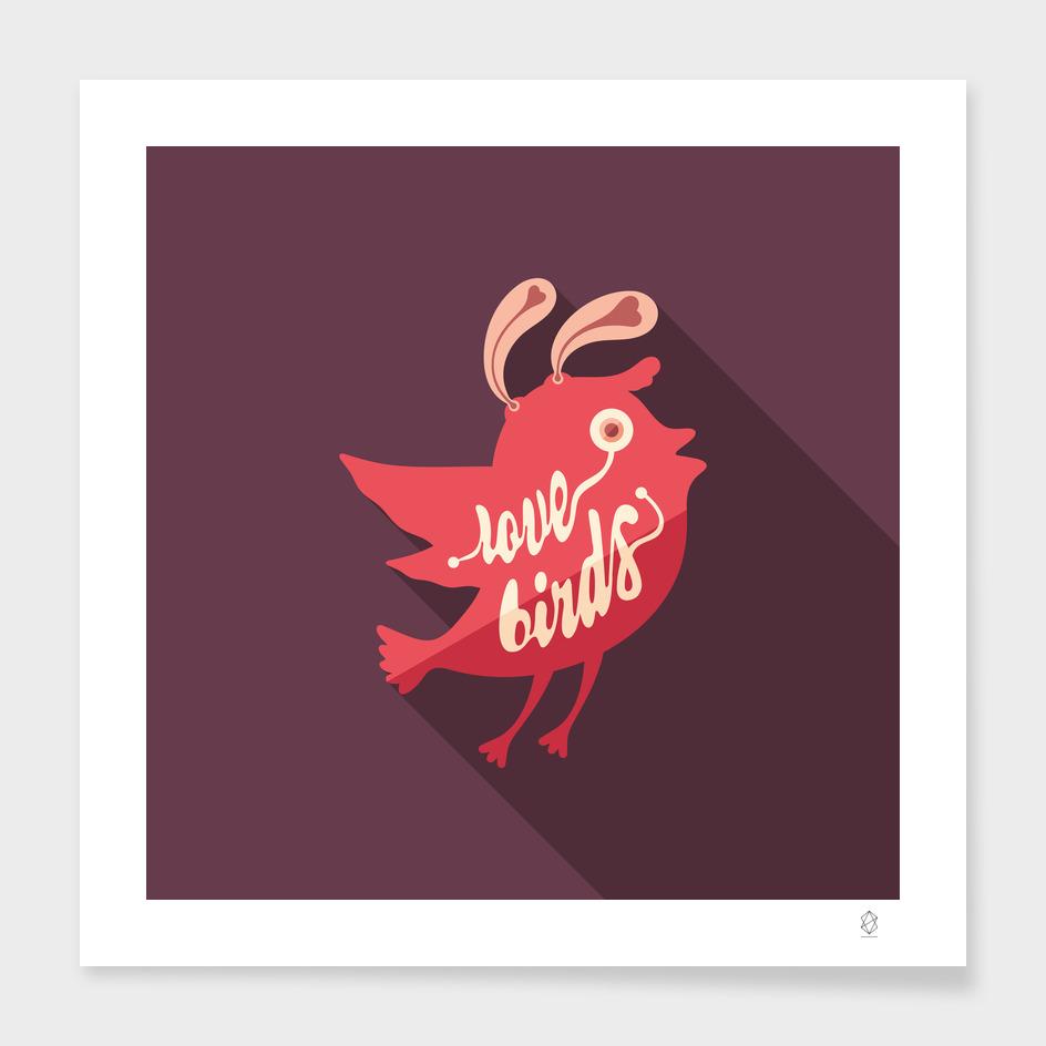 Love Birds Flat Art