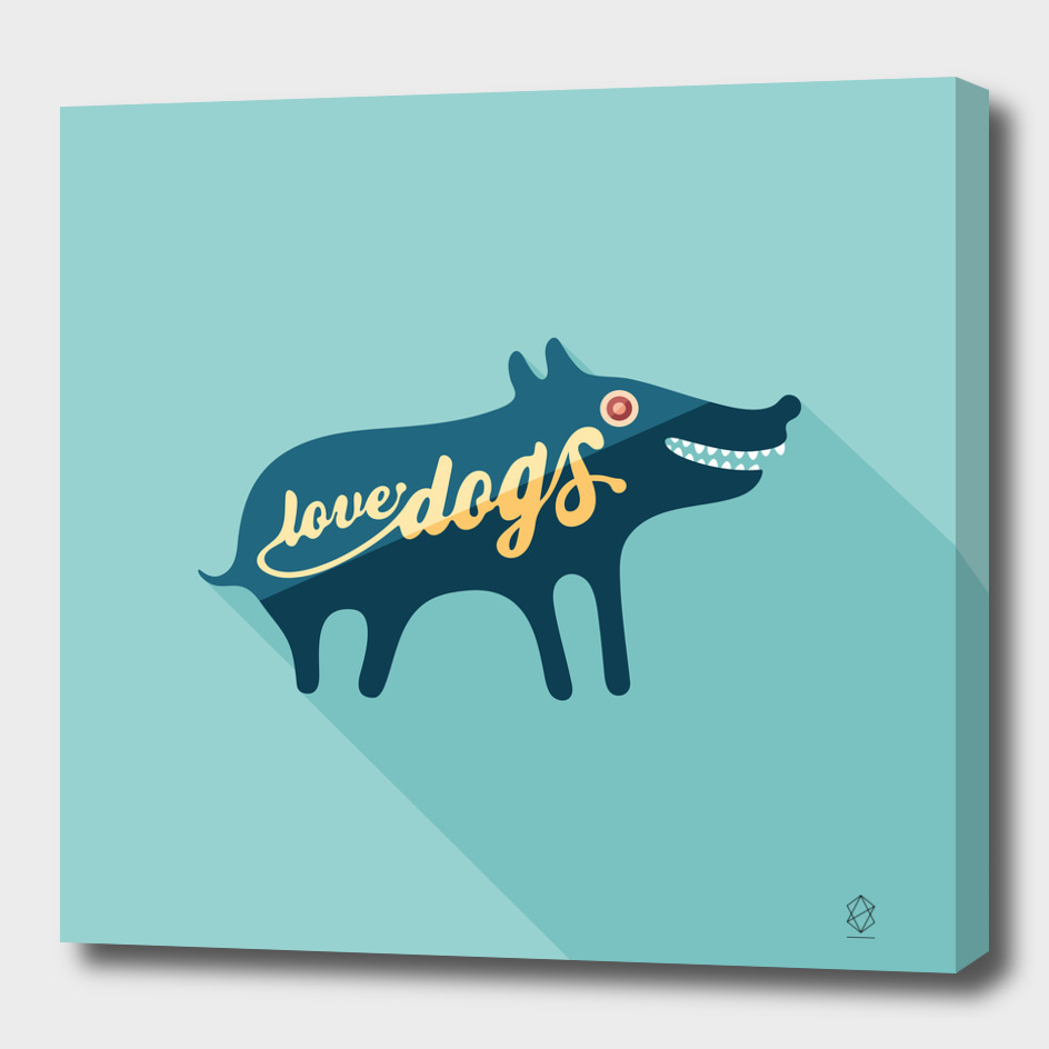 Love Dogs Flat Art