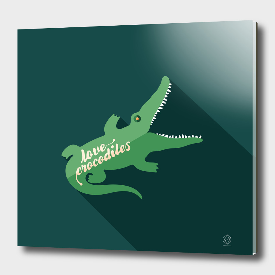 Love Crocodiles Flat Art