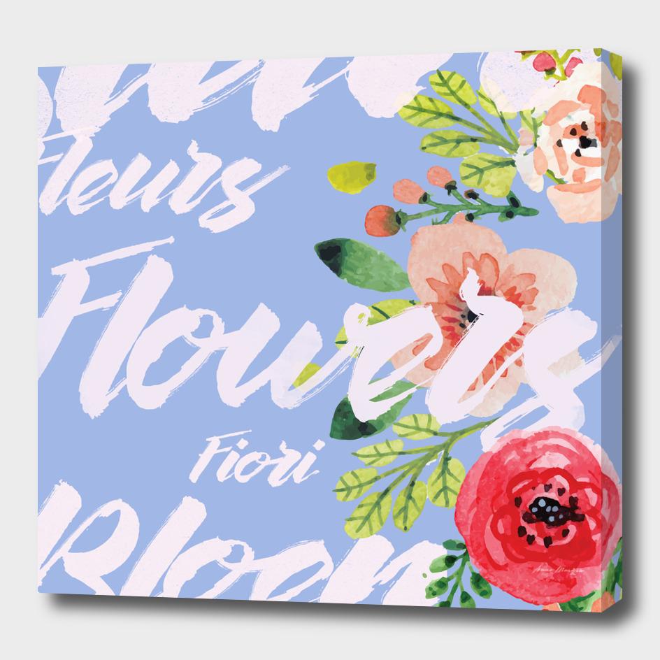 Flowers Fiori Flores (Square)