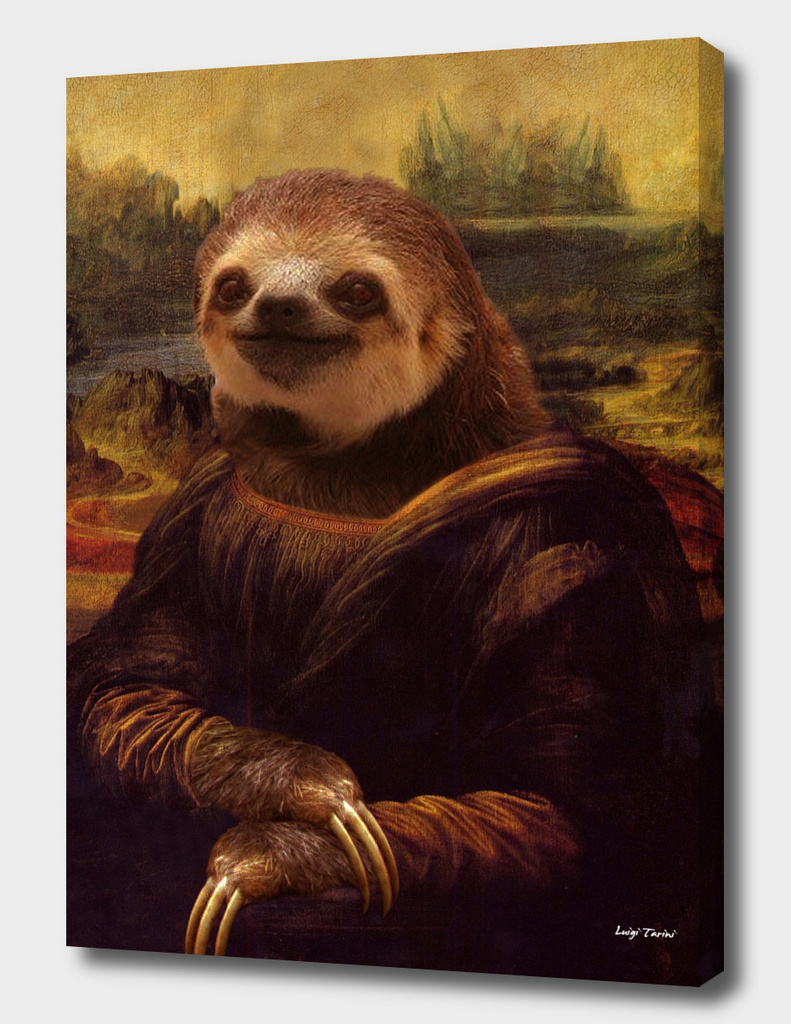Sloth Mona Lisa