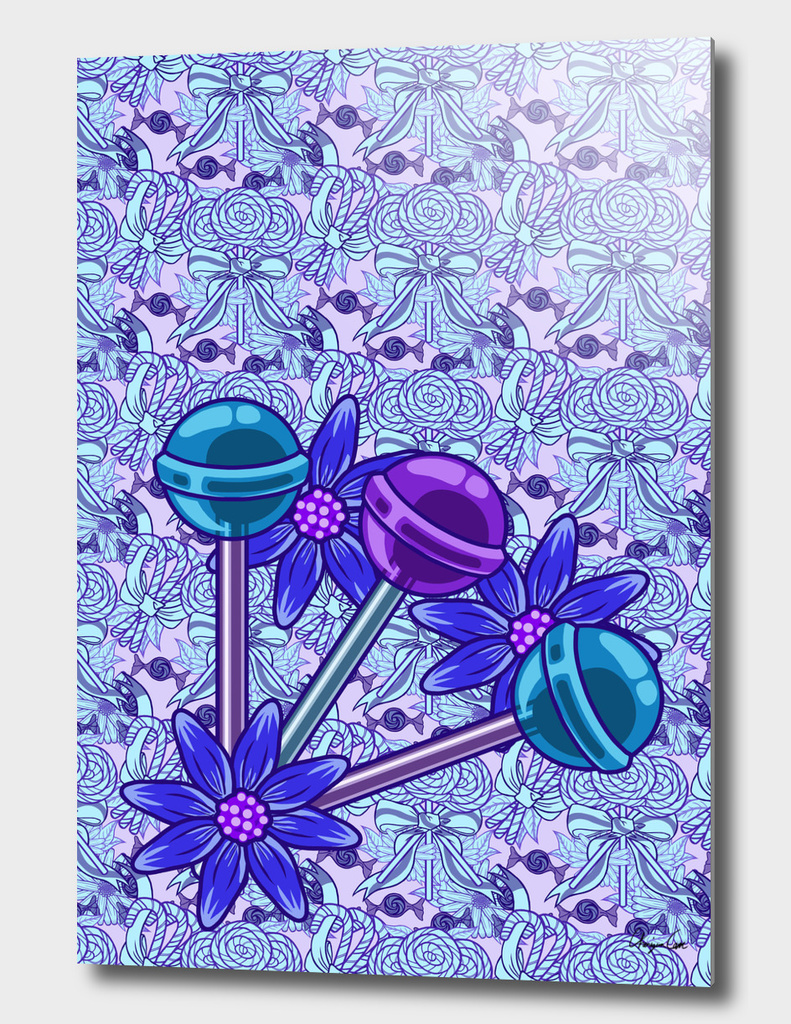 Long Blueberry Fun PLUS (Candy Pattern)
