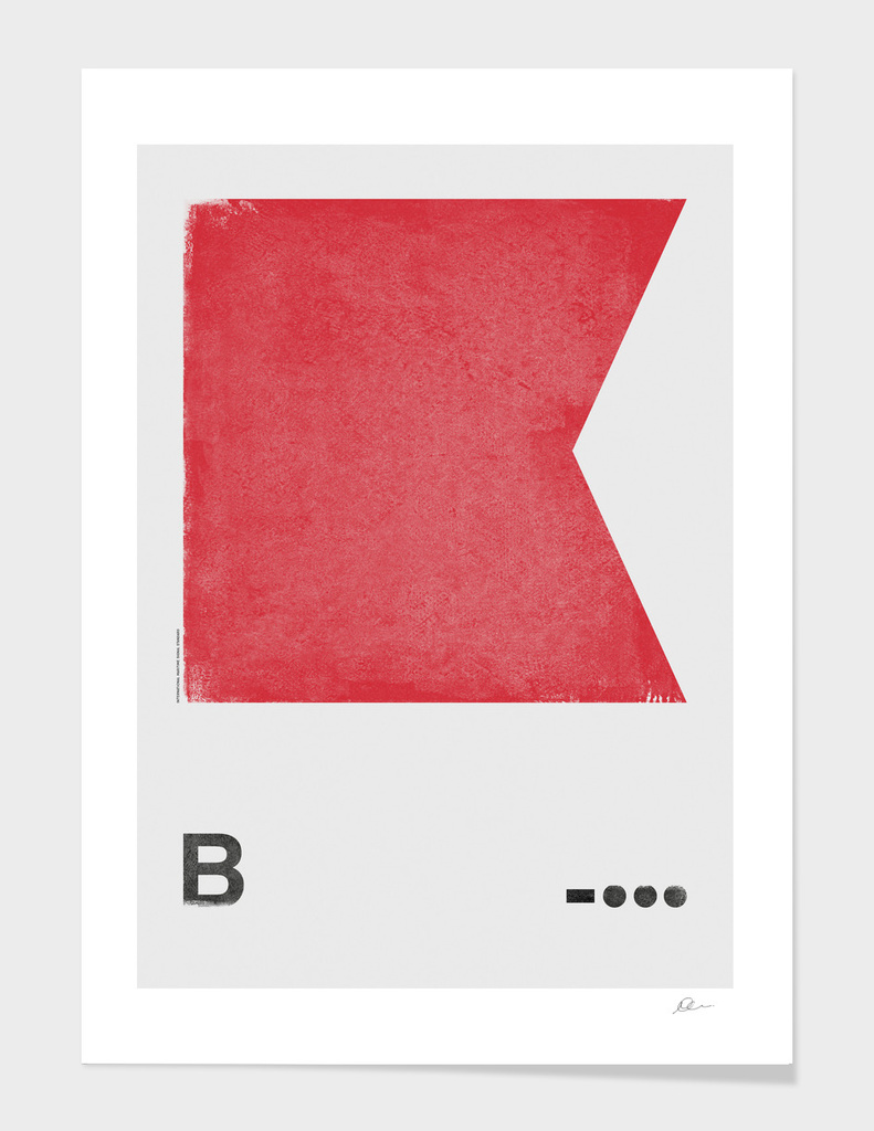 Internation Maritime Signal Flag Alphabet - B