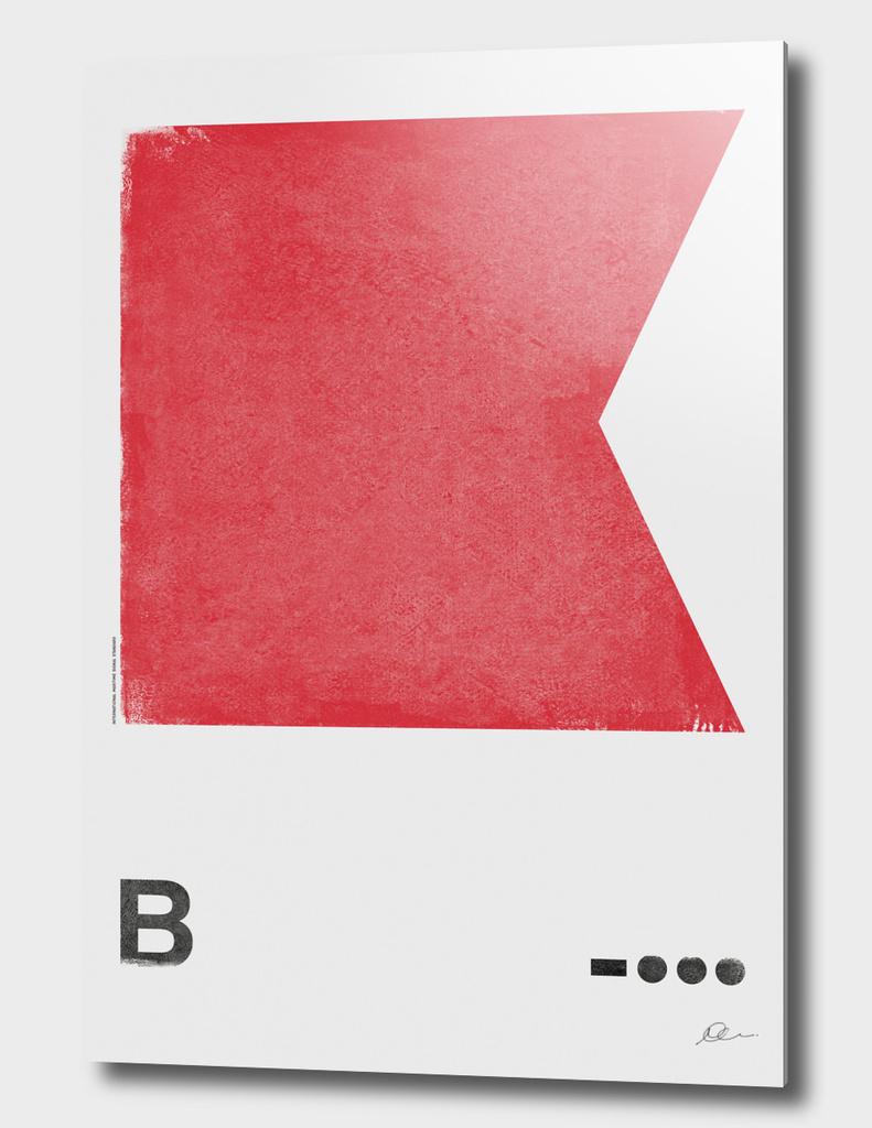 Internation Maritime Signal Flag Alphabet - B