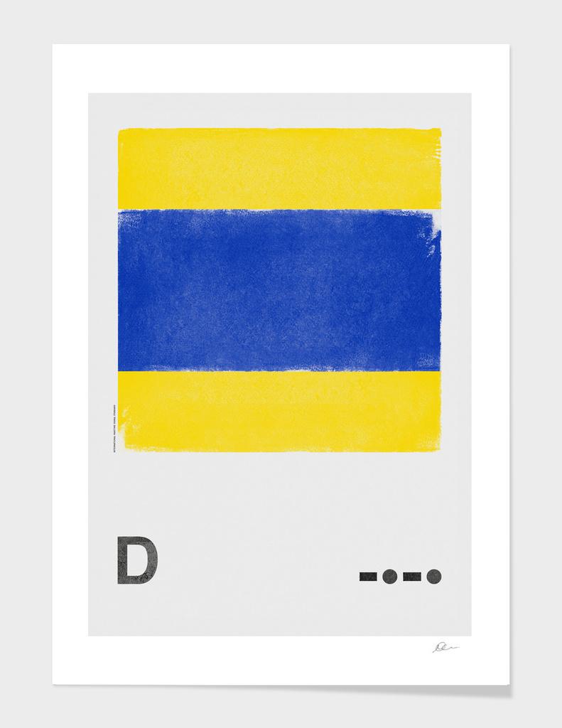 International Maritime Signal Flag Alphabet - D