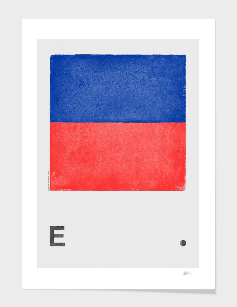 International Maritime Signal Flag Alphabet - E