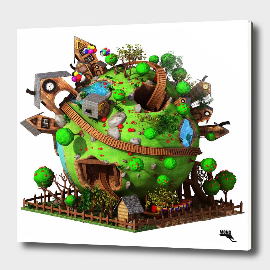 Cartoon Planet Train