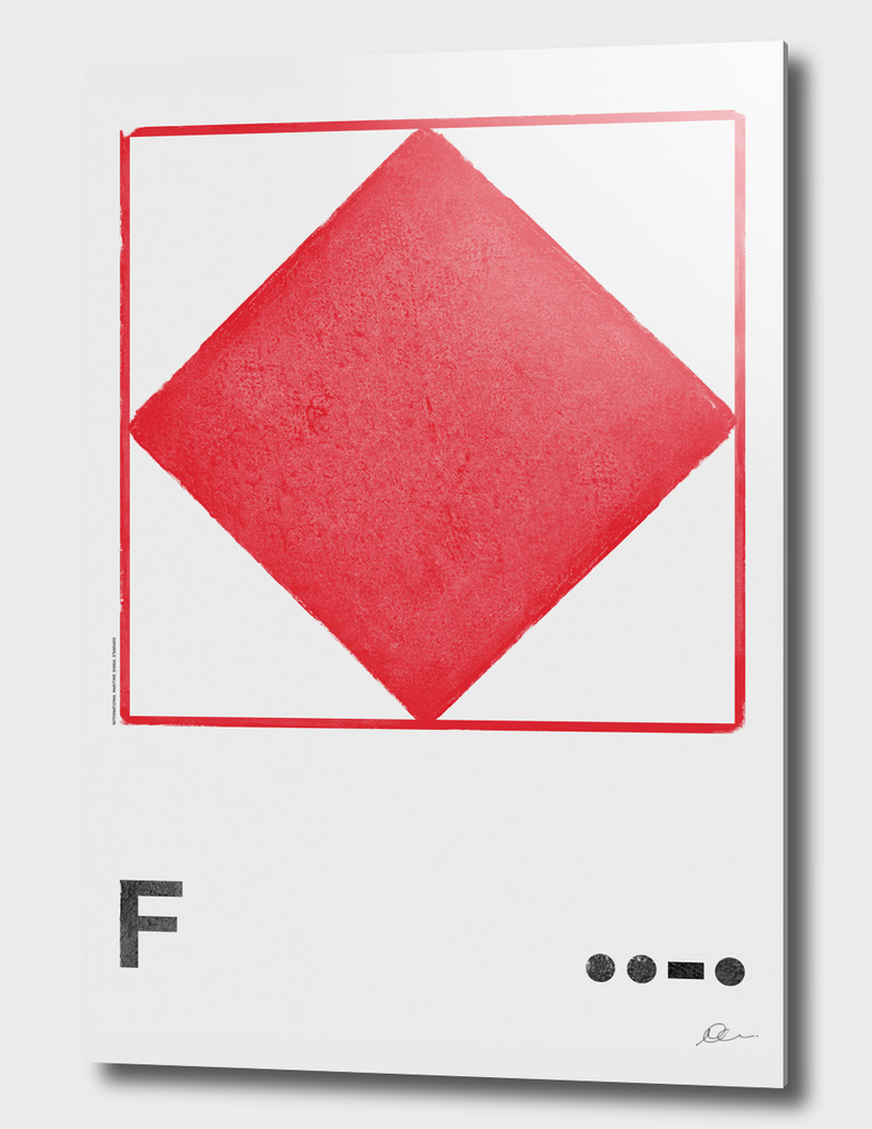 International Maritime Signal Flag Alphabet - F