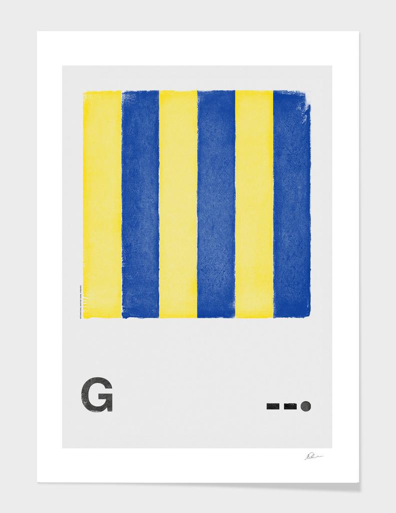 International Maritime Signal Flag Alphabet - G