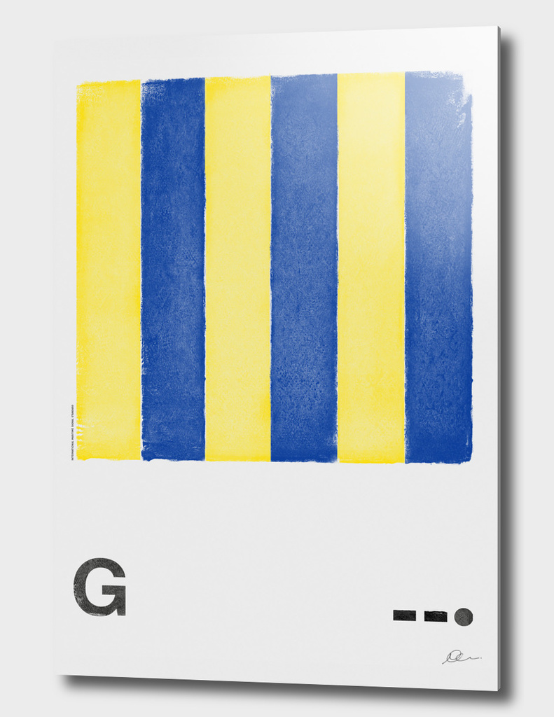 International Maritime Signal Flag Alphabet - G