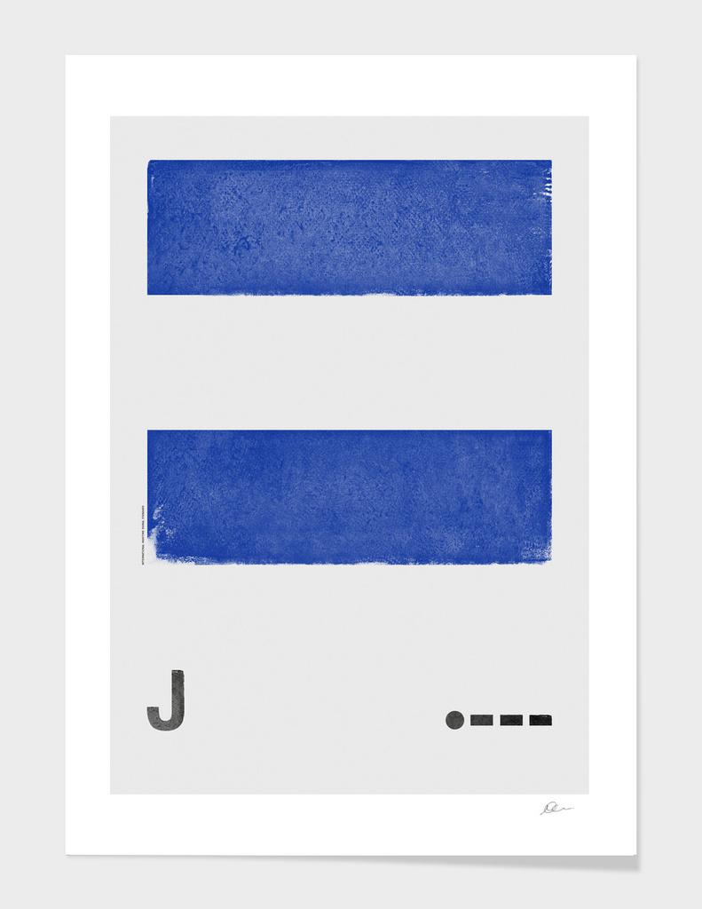 International Maritime Signal Flag Alphabet - J