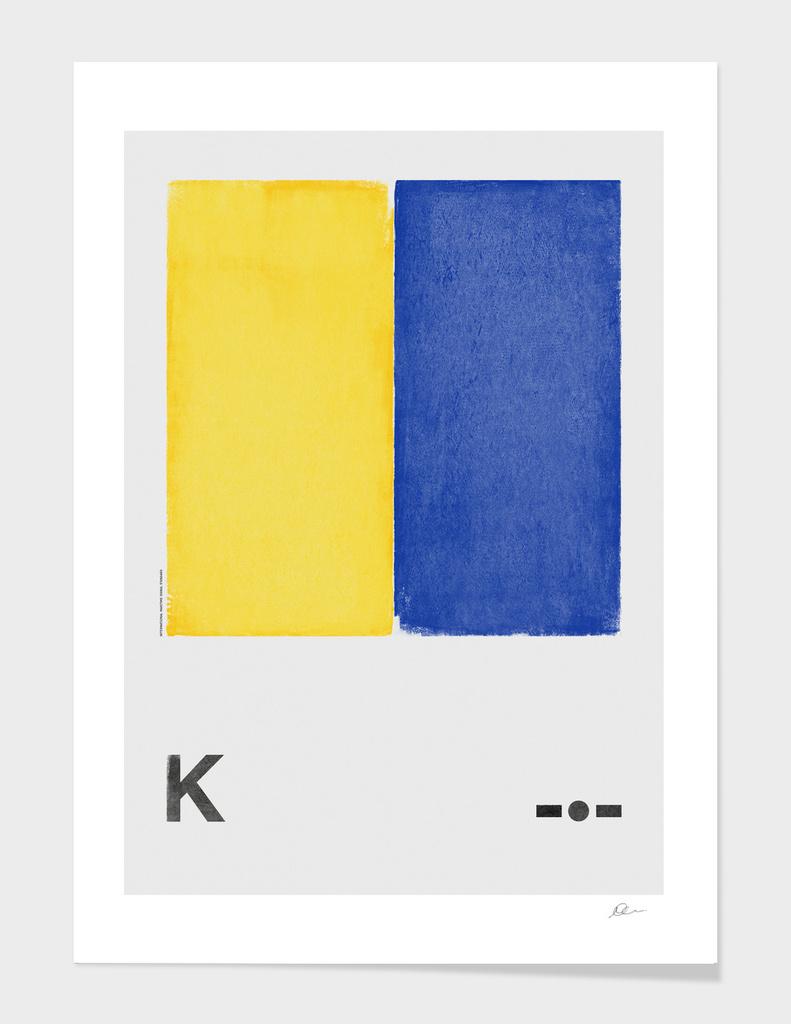 International Maritime Signal Flag Alphabet - K