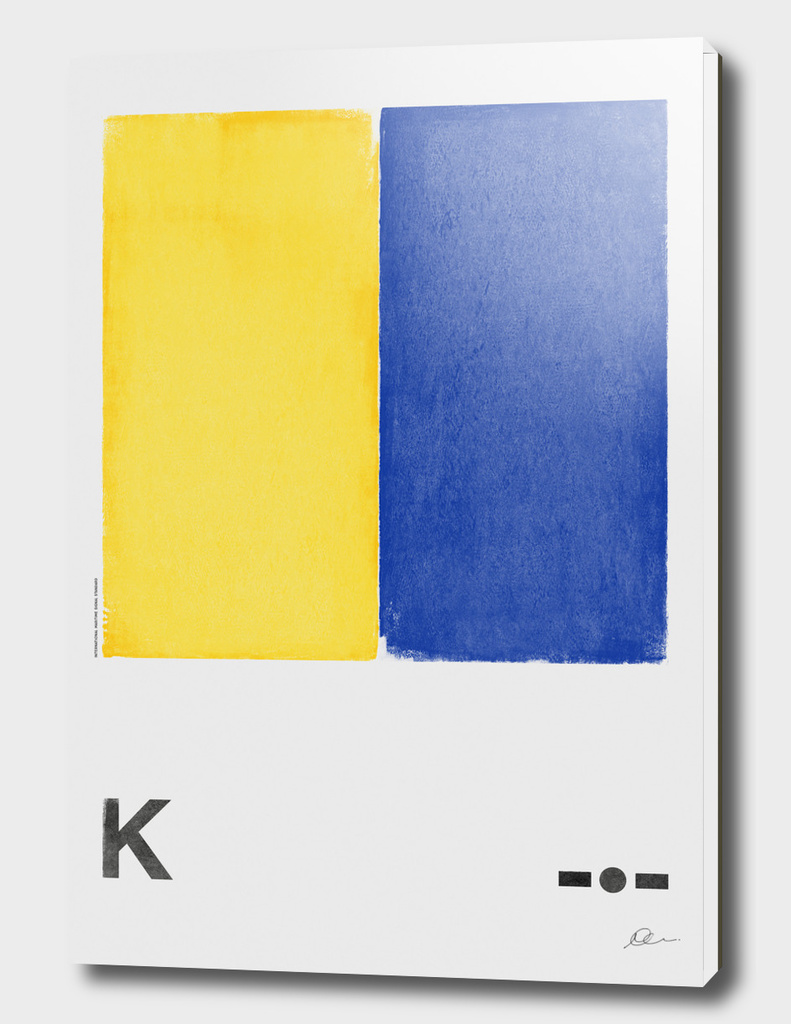 International Maritime Signal Flag Alphabet - K