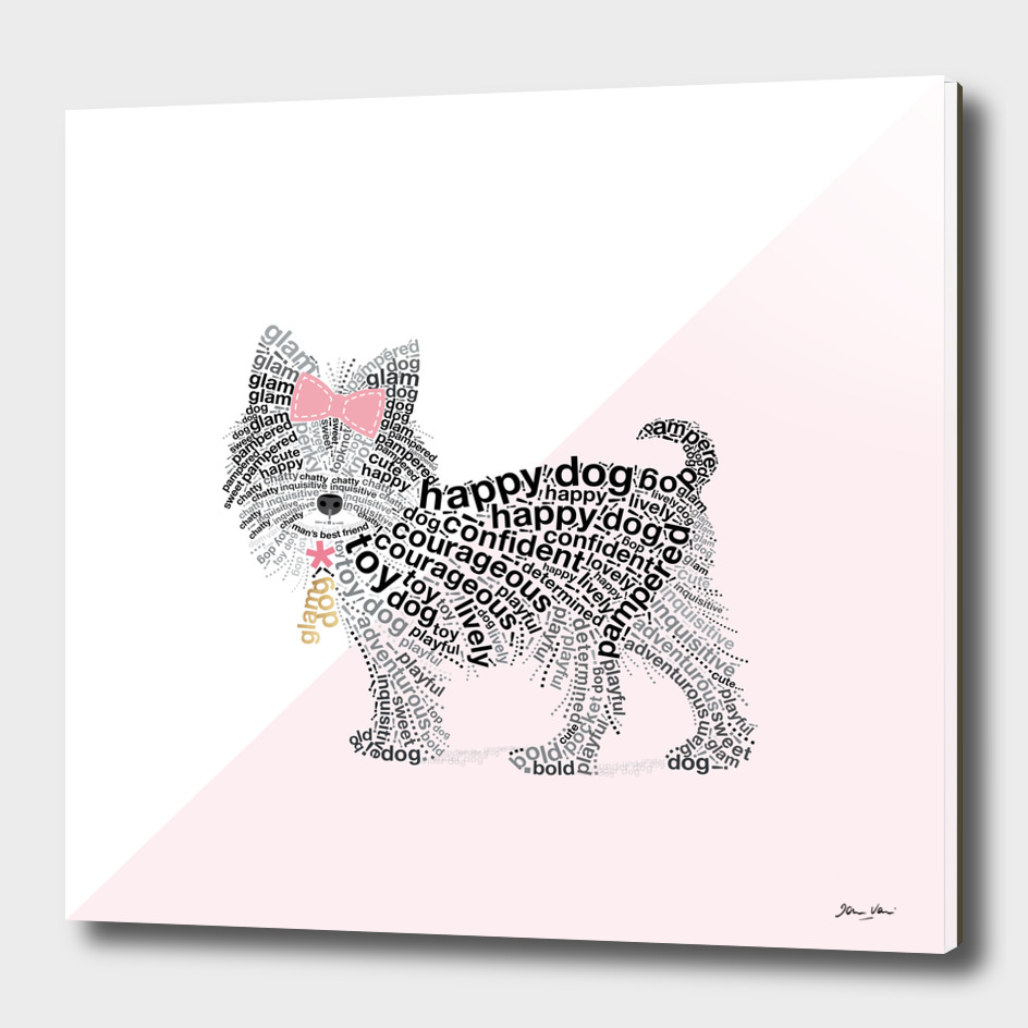 Typographic Yorkshire Terrier