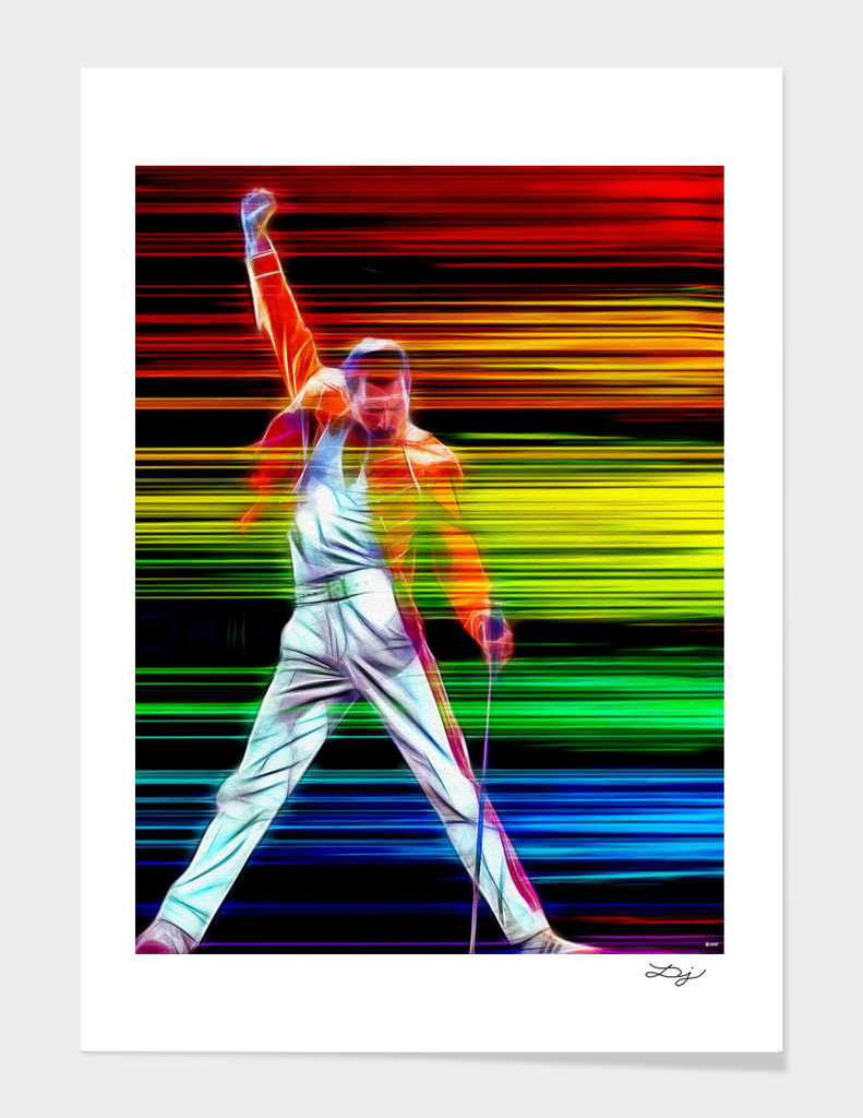 Freddie Mercury in Color
