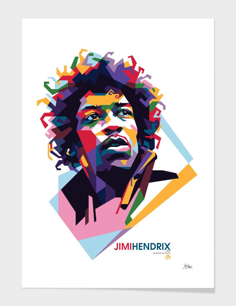 Jimi Hendrix in WPAP pop art style