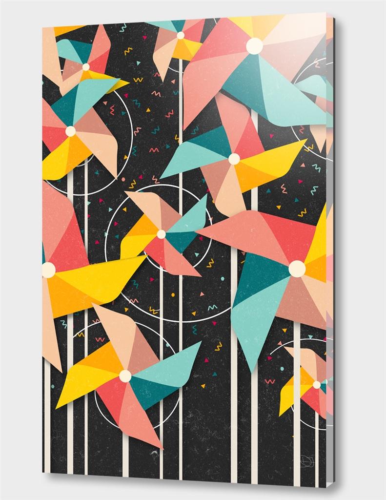 Colourful Pinwheels