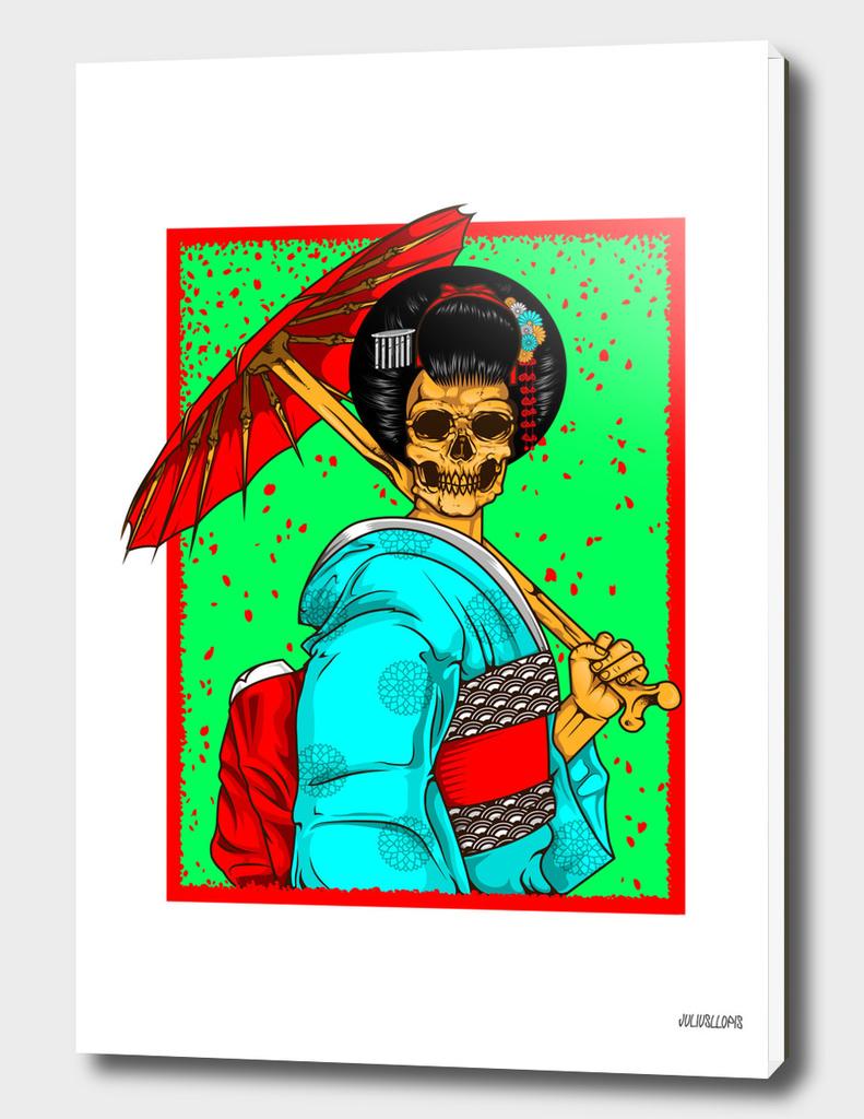 geisha skull