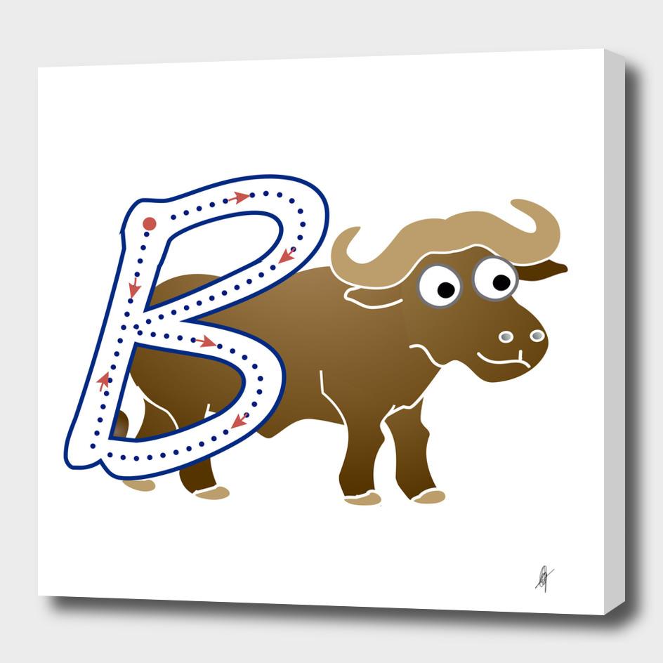 Animal alphabet, letter B: Buffalo