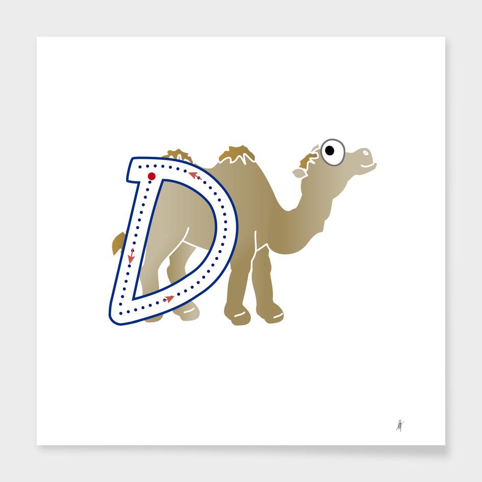 Animal alphabet, letter D: Dromedary