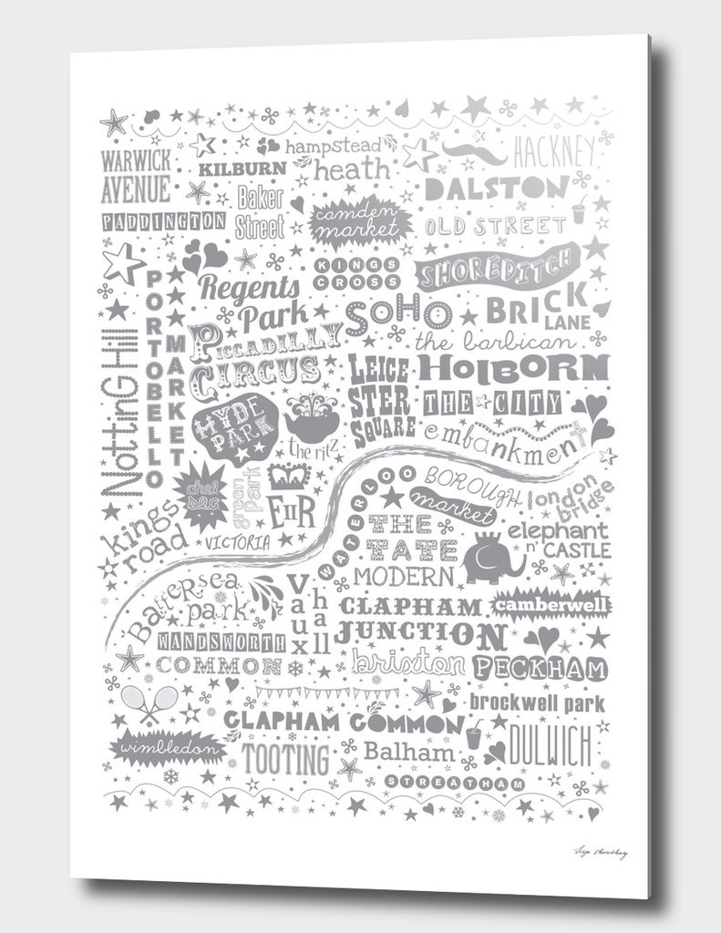I Love You London Map