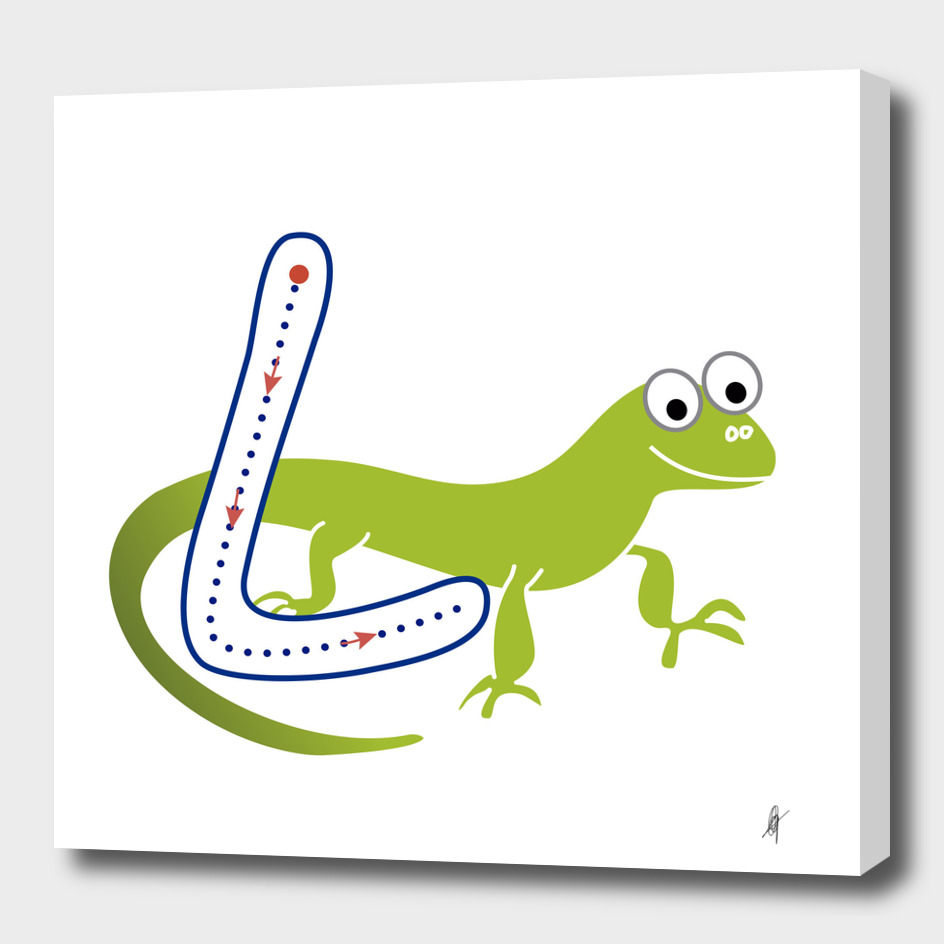 Animal alphabet, letter L: Lizard