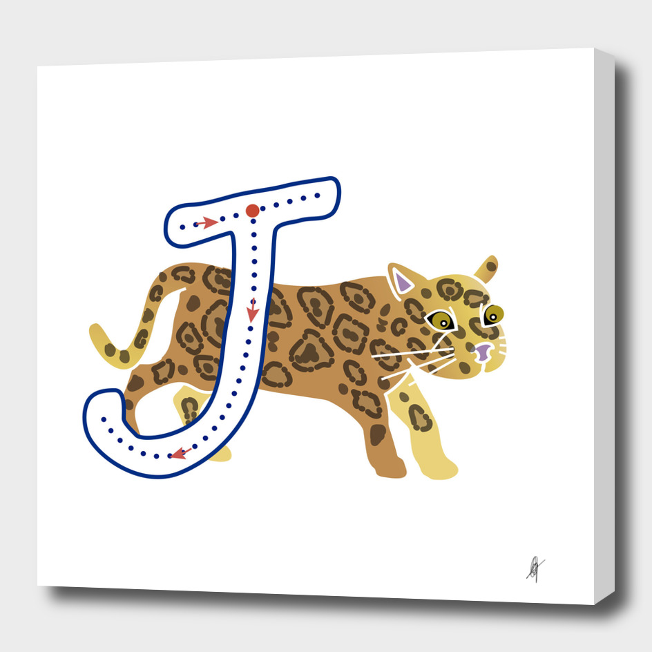 Animal alphabet, letter J: Jaguar