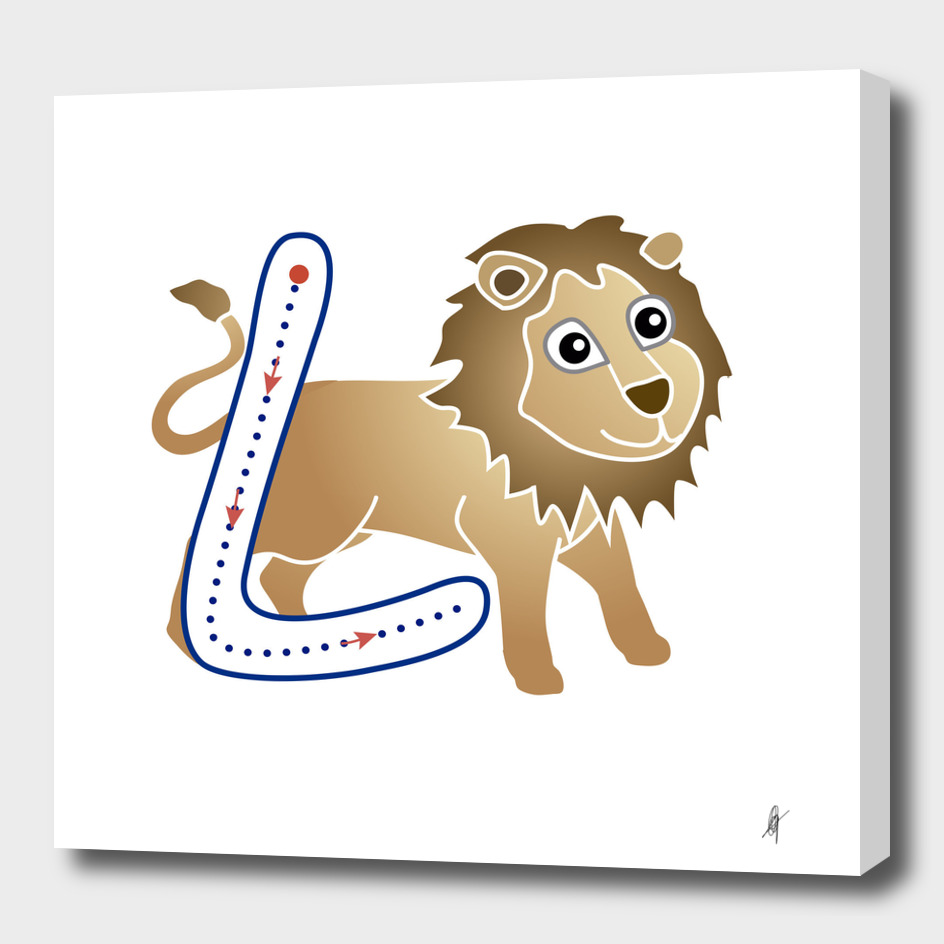 Animal alphabet, letter L: León