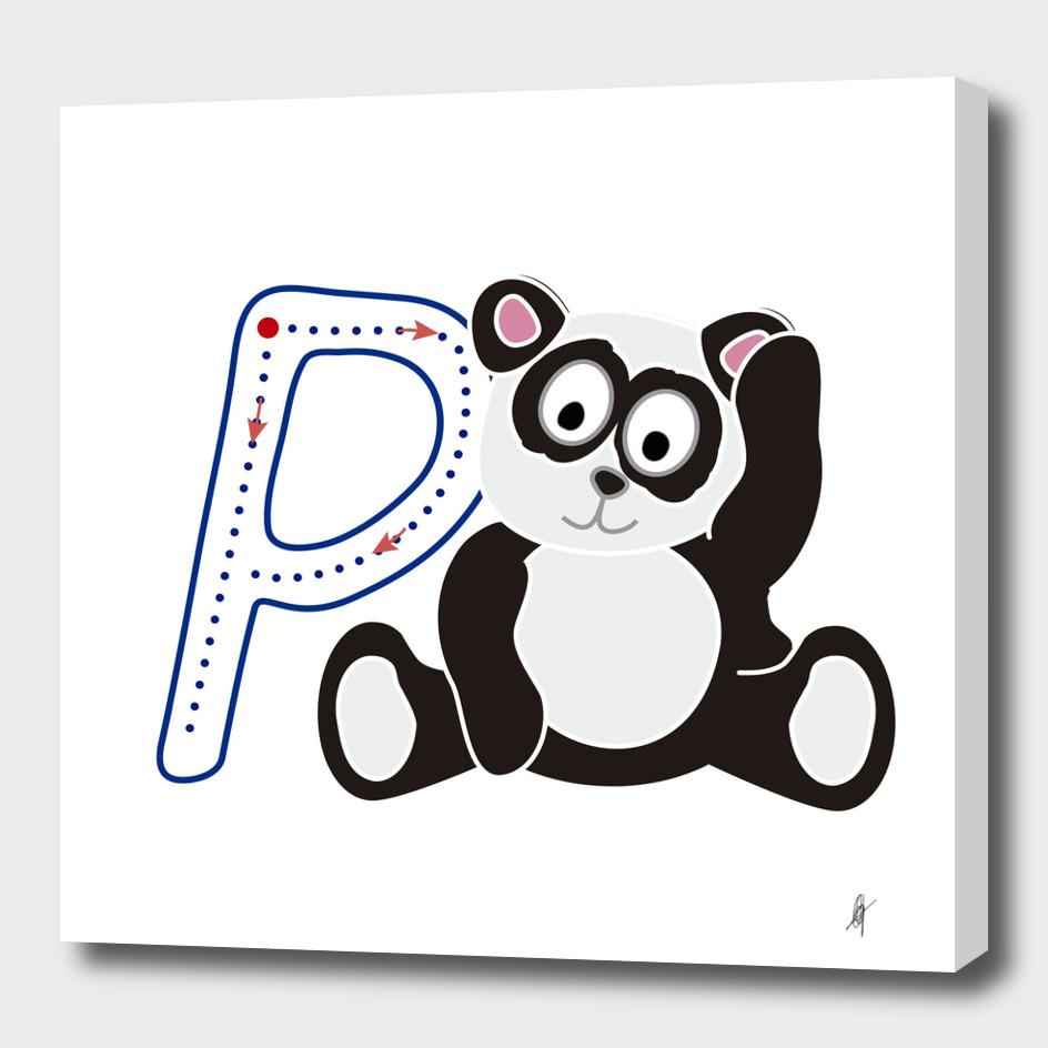 Animal alphabet, letter P: Panda